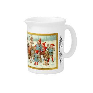 God Jul - Swedish Gnomes Christmas Pitcher 2