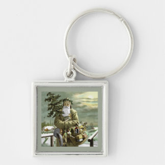 God Jul Swedish Santa Keychain