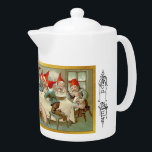 "God Jul - Swedish Tea Pot 5<br><div class=""desc"">By &quot;Jenny Eugenia Nystr&#246;m (born June 13 or June 15, 1854 in Kalmar, Sweden; died January 17, 1946 in Stockholm) was a painter and illustrator who is mainly known as the person who created the Swedish image of the jultomte on numerous Christmas cards and magazine covers, thus linking the Swedish...</div>"