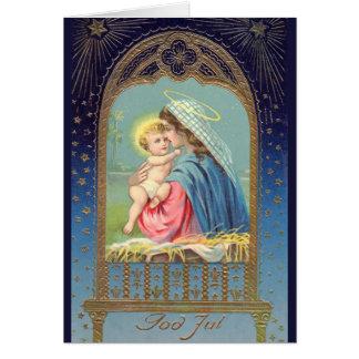 """God Jul"" Swedish Vintage Greeting Card"