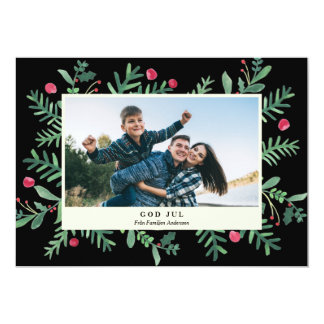 God Jul Wattenfärg | Julkort Card