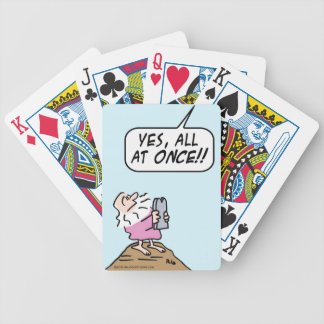 God:  keep ten commandments all at once! bicycle playing cards
