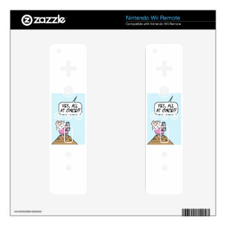 God:  keep ten commandments all at once! skin for the wii remote