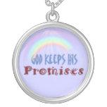 God Keeps His Promises Ornament Round Pendant Necklace