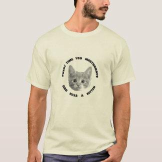 God Kills a Kitten (black text) T-Shirt