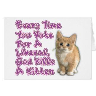 God Kills A Kitten Greeting Card