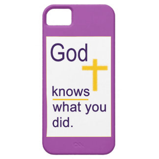 God Knows with Gold-Colored Cross iPhone 5 Cover