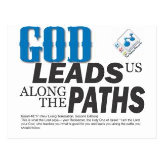GOD leads us along the paths Postcard