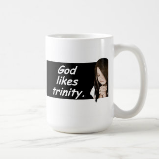 God likes trinity. Russian proverbs-coffee mug.