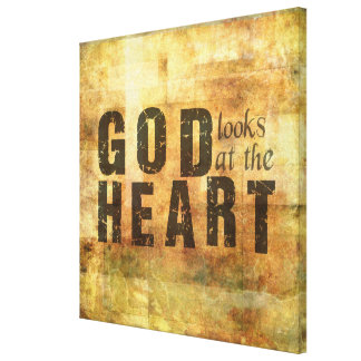 God Looks at the Heart Canvas Print