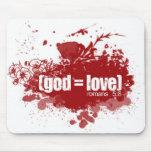 GOD = LOVE copy Mouse Pad