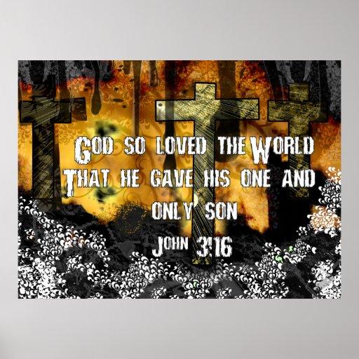 God Loved So Loved The World Poster