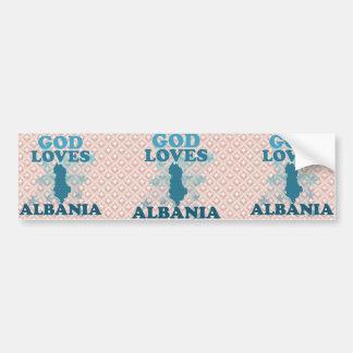 God Loves Albania Car Bumper Sticker