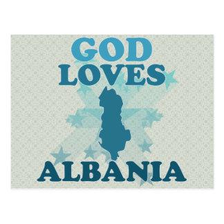 God Loves Albania Postcard