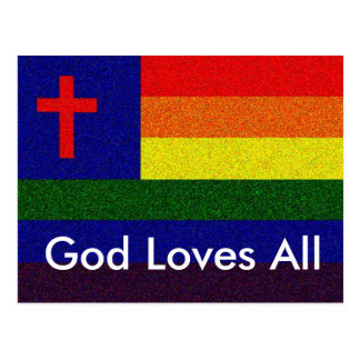God Loves All Postcard