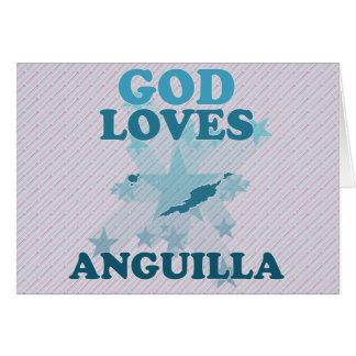 God Loves Anguilla Greeting Cards