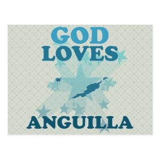 God Loves Anguilla Postcard