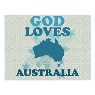 God Loves Australia Postcard