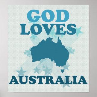 God Loves Australia Print