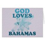 God Loves Bahamas Greeting Cards