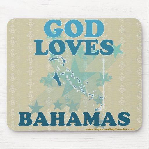 God Loves Bahamas Mouse Pads
