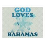 God Loves Bahamas Post Card