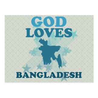 God Loves Bangladesh Postcard