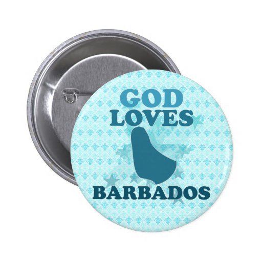 God Loves Barbados Buttons