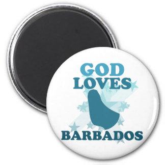 God Loves Barbados Magnet