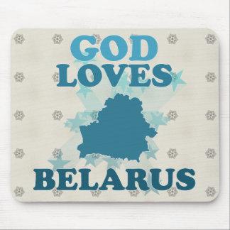God Loves Belarus Mousepad