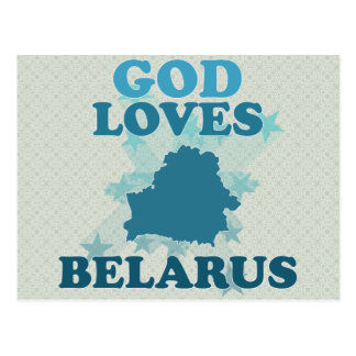 God Loves Belarus Postcards