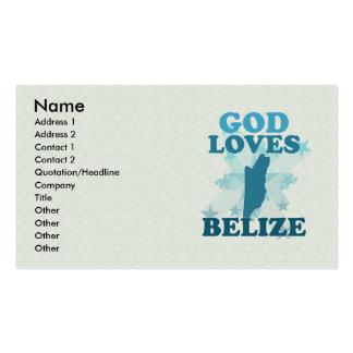 God Loves Belize Double-Sided Standard Business Cards (Pack Of 100)