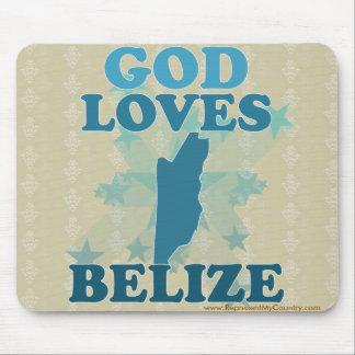God Loves Belize Mouse Pad