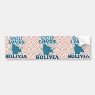 God Loves Bolivia Car Bumper Sticker
