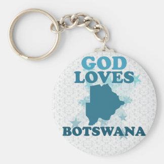 God Loves Botswana Key Chain