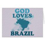 God Loves Brazil Card