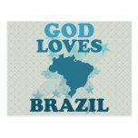 God Loves Brazil Post Card