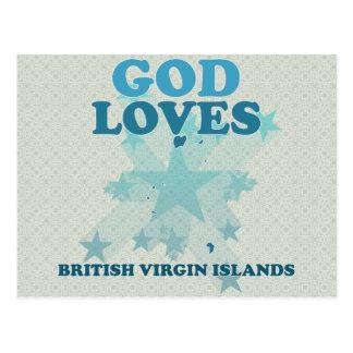 God Loves British Virgin Islands Post Card