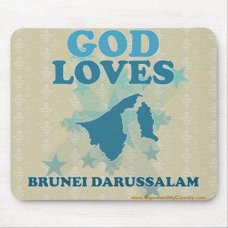 God Loves Brunei Darussalam Mouse Pad