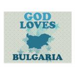God Loves Bulgaria Postcard