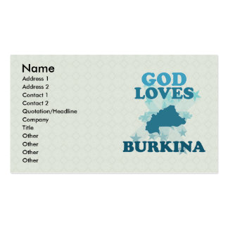 God Loves Burkina Business Card Templates
