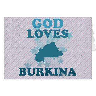 God Loves Burkina Card