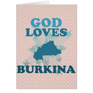 God Loves Burkina Greeting Card