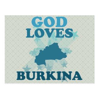 God Loves Burkina Post Cards