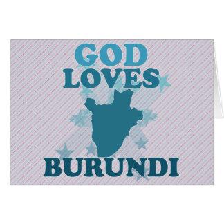 God Loves Burundi Card
