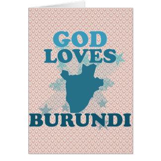 God Loves Burundi Greeting Card