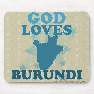 God Loves Burundi Mouse Pad