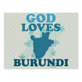 God Loves Burundi Postcards