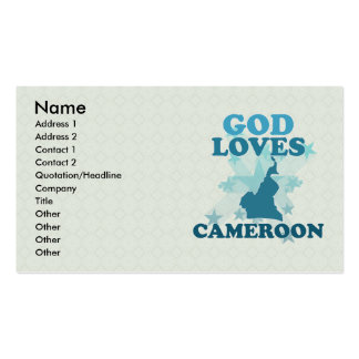God Loves Cameroon Double-Sided Standard Business Cards (Pack Of 100)