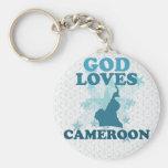 God Loves Cameroon Key Chain